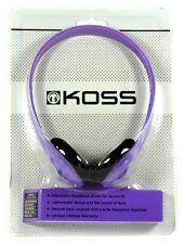 187767  KOSS KPH7 On-Ear Lightweight Headphones (Violet) with Adjustable Headban