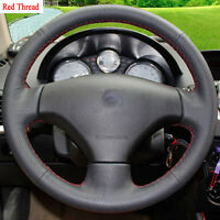 New DIY Sewing-on PU Leather Steering Wheel Cover Exact Fit For Peugeot 207