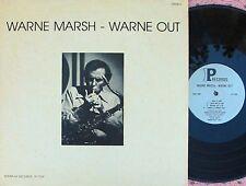 Warne Marsh ORIG US LP Warne out EX '77 Interplay IP7709 Jazz Cool Sublime Sax