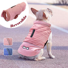 Dog Winter Coat Waterproof Warm Jacket French Bulldog Clothes Cold Weather XS-M