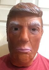 American President Donald Trump Celebrity Latex Mask Tanned Fancy Dress Costume