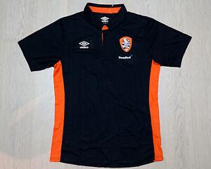 Brisbane Roar FC Black Polo Shirt S/S - size M A-League