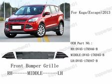 Replacement Front Bumper Lower Grill Grilles Kits for Ford Escape 2013-2015