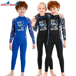Kids Diving Suit Full Body Youth Dive Wetsuit Underwater Jumpsuit UV Child