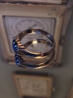 9ct Rose Gold Cornflower Blue Sapphire 0.3ct Gypsy Ring Chester 1898 P1/2 Superb