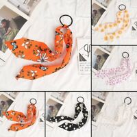 Hair Band Scarf Bow Floral Ties Rope Ring Elastic Scrunchies Ribbon Women Girls