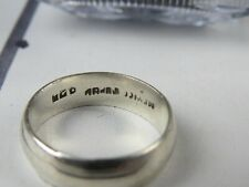 Vintage Stamped 925 Sterling Silver Band Size 10 *SSANITIZED*
