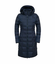 The North Face Women's METROPOLIS II Parka 550 Down Jacket Trench Coat Navy M 10