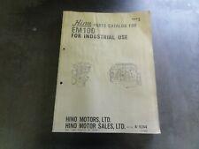Hino EM100 Engine Parts Catalog Manual