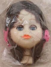 Darice 4� Plastic Doll Head Brown Hair Craft Eyes Open & Close