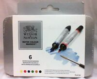 NEW Winsor & Newton Water Colour Marker Set of 6 - Free Shipping