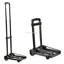 Folding Metal Trolley Platform Cart Platform Truck Luggage & wheel Black New