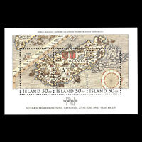 Iceland 1991 - Stamp Exhibition NORDIA ´91 Maps s/s - Sc 740 MNH