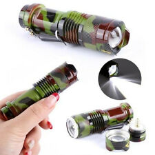 ilego 7W 300LM CREE Q5 LED Camouflage Flashlight Torch Adjustable Focus Zoomable