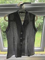 Tara Starlet Blouse Top Size 12 Black White Check Vintage 50s Style
