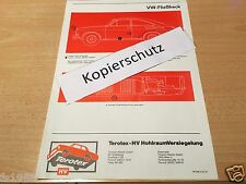 VW Typ 3 TL (Fließheck),  Terotex Hohlraumversiegelungsplan