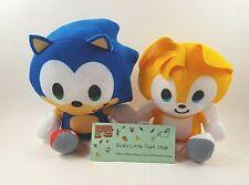 "Tails Mini & Sonic the Hedgehog Set of 2 Plush Doll Stuffed 5"" Toy Big Head"