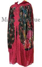 Cloak Opera Cape Peacock Victorian Rep Long Beaded Velvet Lace Lined Deep Red