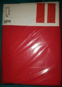 "IKEA Annalouisa Curtains,2 Panel 98""Drape Red Orange Persimmon NEW Sealed Cotton"