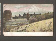 Vtg Postcard Mount Hood Oregon Or Ore 1909
