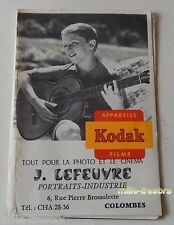 Ancienne Pochette PHOTO KODAK Appareils Films - Jeune garçon à la guitare