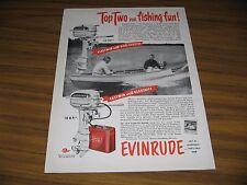 1950 Print Ad Evinrude Fleetwin 7.5 HP & Fastwin 14 HP Outboard Motors