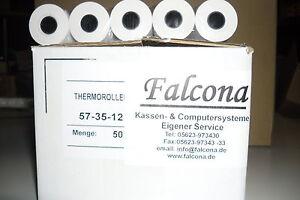 EC-Cash Rollen 57/ 35mm /12 14m Länge Thermorollen 50 Stück SEPA Lastschrifttext