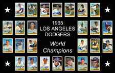 LOS ANGELES DODGERS 1965 World Series Baseball Card Custom Man Cave Poster Decor