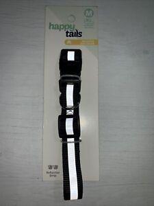 Reflective Dog Collar High-vis visibility Adjustable Dog Size M 35-55cm Black