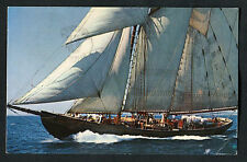 Posted 1967 From Montreal: View of Sailing Ship Bluenose II