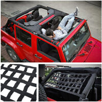 Heavy Duty Soft Cargo Roof Top Cover Rest Bed Hammock for Jeep Wrangler JK 07-18