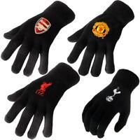 Mens Football Gloves Manchester United Liverpool Tottenham Stretch Knit