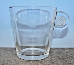 Nespresso Glass Collection Clear Demitasse Espresso Coffee Mug Cup 7.5 cm Tall