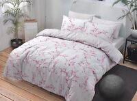 Marble Pink Quilt Cover Reversible Check Girls Bedding Set # SINGLE DOUBLE KING