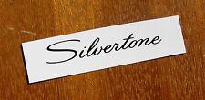 60's Silvertone Headstock Decals Waterslide Decal Black Radio Amp Vintage Guitar