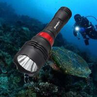 Diving Flashlight 50000 Lumens Underwater 50m T6 LED Scuba Lamp Torch Light HOT