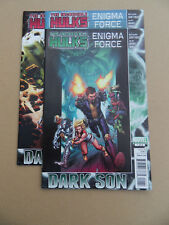 Incredible Hulks : Enigma Force 1 - 3 . Lot Complet . Marvel 2010 / 11 . FN / VF