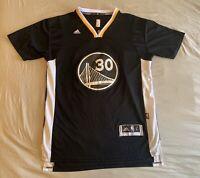 Stephen Curry Warriors Adidas Black Short Sleeved Swingman Jersey Size Adult L