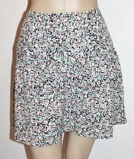 COTTON ON Designer Blue Pink Floral Full Skirt Size L BNWT #sE37