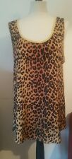 NEXT LEOPARD MUSTAND VEST PLUS 20 TOP T SHIRT TEE CUTE VINTAGE