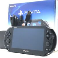 """SONY PS Vita PCH-2000 Slim Black Wi-Fi LCD w/ Charger, Box """"Excellent"""""""