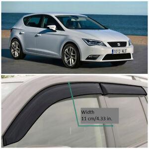 SE11012 Window Visors Guard Vent Wide Deflectors For Seat Leon 5F Hb 2012-2018