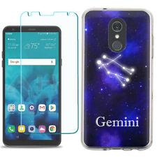 TPU Phone Case for LG Stylo 5 w/ Tempered Glass - Gemini
