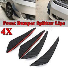 Glossy Carbon Fiber Car Bumper Fin Canard Splitter Diffuser Valence Spoiler