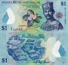 BRUNEI 1 Ringgit Banknote World Paper Money UNC Currency Pick p35 Sultan Bill