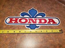 vintage advertising honda motorcycle tag crest