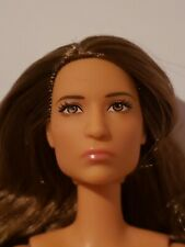 ARTICULATED Barbie-Nude Doll ONLY -VERY Tanned Skin,LONG HIGHLIGHTED HAIR