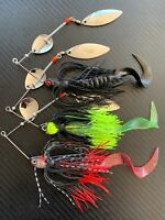 3x 1/2oz Murray Cod Spinnerbaits 14g Blade Spinner Bait Lures Bass Yella Trout