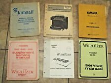 Vintage Organ Service Manuals Kimbell Wurlitzer Yamaha Thomas Lot of 6