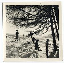 Photographie amateur skieur alpiniste montagne vers 1950 beau tirage Neige Ski